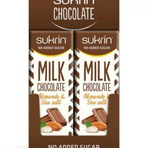 Молочный шоколад с Сукрином, миндалем и морской солью 20 шт